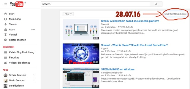 Steem Youtube